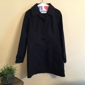 Black trench/rain resistant coat